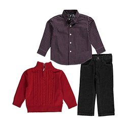 Nautica Toddler Boy's 3-pc. Shirt/Sweater/Jeans Set - Red Rogue - Size: 2T