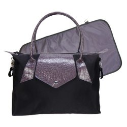 Trend Lab Rendezvous Tote Diaper Bag - Black/Gray