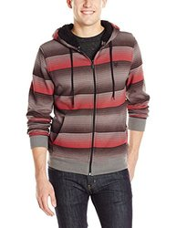 Zoo York Men's Insight Sherpa Hoodie - True Red - Size: XL