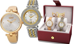 Burgi Ladies Watch Set - Gold/Silver