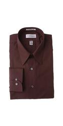Van Heusen Men's Poplin Fitted Point Collar Dress Shirt - Black - Size: M