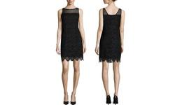 Robbie Bee Women's Sleeveless Detail Sheath Dress - Black/Silver - Size: 6