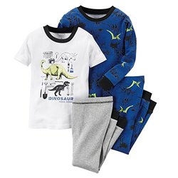 Carter's Toddler Boy Carter's Print Pajama Set Blue Dinosaur - Size: 5T
