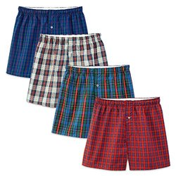 Fruit of the Loom Premium Men's Cotton Boxers - Assorted - Size: Medium