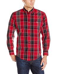 U.S. Polo Assn. Men's Classic Fit Plaid Shirt - Winning Red - Size: 2XL