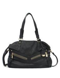 Jessica Simpson Hudson Satchel Handbag - Black