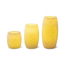 pc. Embossed Flameless LED Candle Set with Timer -pc. Embossed Flameless LED Candle Set with Timer 3