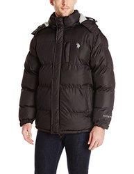 U.S. Polo Assn. Men's Classic Short Bubble Jacket - Black - Size: Large