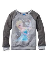 Disney Girl's Elsa Magic Sweatshirt - Charcoal - Size: 7-16 Month