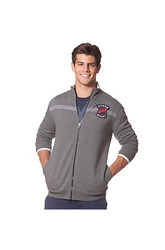 Chaps Men's Long Sleeve Full Zip Jacket - Heather Grey - Size: Medium