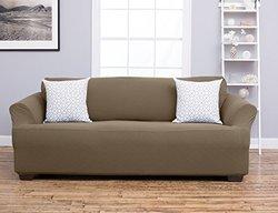 Home Fashion Cambria Strapless Sofa Slipcover - Toffee - Size: Sofa