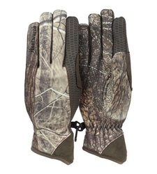 Huntworth Men's Gunner Performance Fleece Gloves - Green Camo - Size: XL