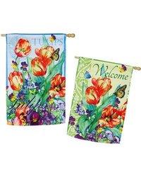 Evergreen Enterprises, Inc Spring Flowers Garden Flag