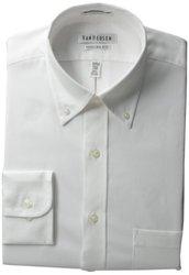 Van Heusen Men's Button Down Collar Dress Shirt - White -17.5X34/35
