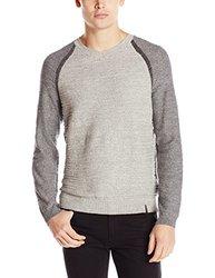 Calvin Klein Jeans Men's Baseball V-Neck Sweater - Heather - Size: X-Large