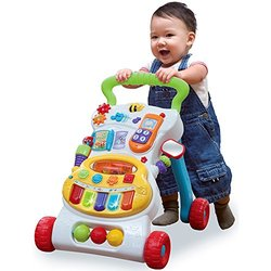 WinFun Grow with Me Musical Walker with Easy Grip Handle
