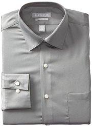 """Van Heusen Men's Lux Solid Dress Shirt - Gray - Size: 15.5""""x32""""-33"""""""