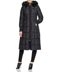 T Tahari Women's Elizabeth Down Coat with Fur Hood - Black - Size: M