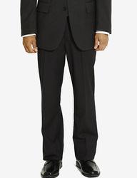 Arrow Men's Herringbone Dress Pants - Black - Size: 40 X 30