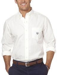 Chaps Men's Solid Color Poplin Woven Shirt - White - Size: XXL