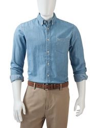 Dockers Men's Classic Fit Woven Shirt - Chambray - Size: Small