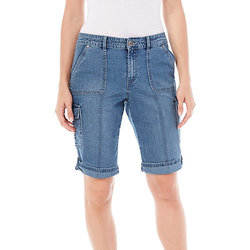 Bandolino Women's Samantha Denim Bermuda Shorts - Blue - Size: 6