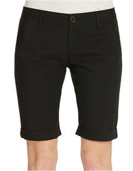 DKNY Jeans Women's Crochet Accent Bermuda - Black - Size: 8