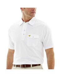 Jack Nicklaus Men's Short Sleeve Golden Bear Polo Tshirt - White - Size: M