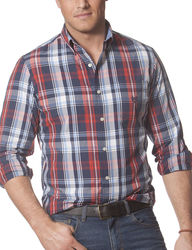 Levi's Men's Long Sleeve Plaid Woven Shirt - Multi - Size: L