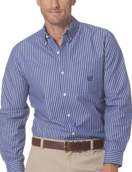 Chaps Men's Vertical Stripe Shirt - Size: Large