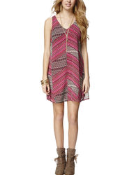 My Michelle Women's Multicolor Mixed Print Shift Dress - Pink - Size: S