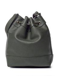 Signature Studio Women's Stud Perforated Bucket Handbag - Cognac