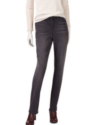Gloria Vanderbilt Women's Jordyn Rail Straight Jeans - Blue - Size: 14