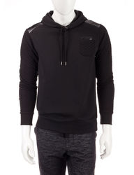 Signature Studio Men's Quilted Fleece Hoody - Black - Size: XL