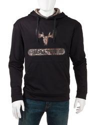 Realtree Men's Fleece Hoodie - Black - Size: Large