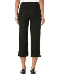 Rafaella Women's Criss Cross Double Weave Capri Pants - Black - Size: 8