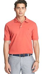 Izod Men's Heritage Solid Pique Polo - Cranberry - Size: Medium