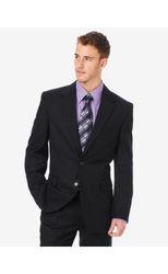 Arrow Men's Herringbone Suit Jacket - Black - Size: 44R