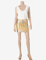 Sequin Hearts Women's Aztec Print Dress - Ivory/White - Size: Small