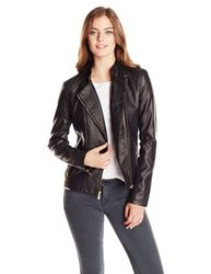 Calvin Klein Women's Moto Jacket - Black - Size: Small