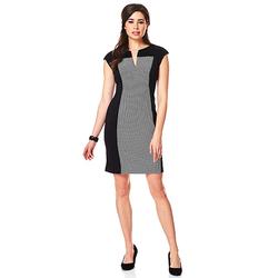 Connected Apparel Women's Dot Panel Dress - Black - Size: 24W