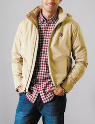 U.S. Polo Assn. Men's Solid Color Golf Jacket - Khaki - Size: L