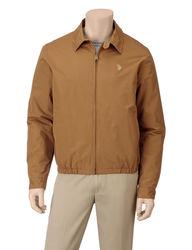 U.S. Polo Assn. Men's Solid Color Golf Jacket - Dark Khaki - Size: XL