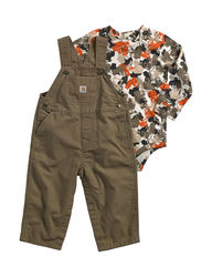 Carhartt Baby Truck Print Bodysuit & Overalls Set for - Purple - 3-24 Mos