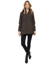Weatherproof Women's Soft Shell Hooded Walker Coat - Melange Grey - Size:S