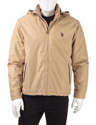 U.S. Polo Assn Men's Solid Color Golf Jacket - Khaki - Size: L