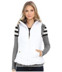 KC Collections Women's Reversible Faux Fur Vest - White - Size: XL