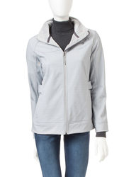 Free Country Women's Side Tab Softshell Jacket - Grey - Large