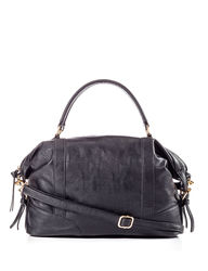 Valerie Stevens Women's Nappa Satchel Handbag - Black