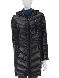 Valerie Stevens Women's Down Packable Coat - White - Size: XL